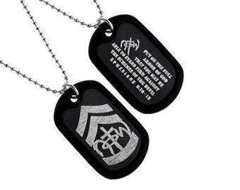 """NOTW - """"Armor Of God"""" Dog Tag"""