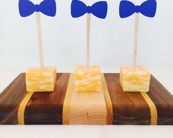 15 Bow Tie Food Picks - Appetizer Picks - Baby Shower - New Baby - It's a Boy - Boy Birthday - Bow Tie Birthday - Baby Sprinkle