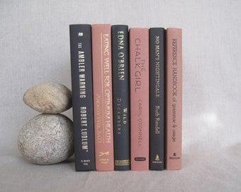 Black and Tan Decorative Book Set, Book Bundle, Home Staging, Wedding Centerpiece, Farmhouse Books