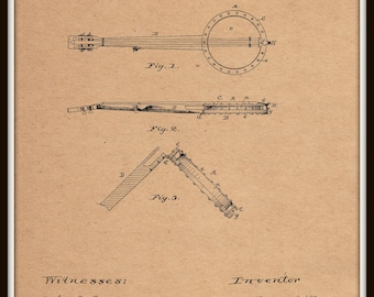 Banjo Patent #350693 dated October 12, 1886.