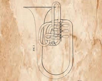 Brass Musical Instrument Patent # 158594 dated January 12, 1875.