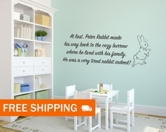 Peter Rabbit Interior Vinyl Wall Sticker / Wall Decoration / Beatrix Potter Peter Rabbit Wall Art