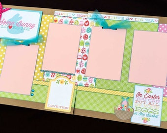 12x12 Easter Scrapbook Page Kit, 12x12 Premade Easter Scrapbook, 12x12 Premade Scrapbook pages, 12x12 Easter Page Kit, 12x12 Scrapbook Page