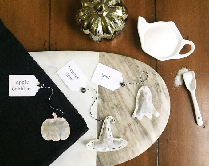 Halloween Tea Bags. Choose Your Tea. Personalize the Tag. Gift For the Tea Lover. Perfect Party Favors.