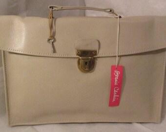 Vintage Coach Bonnie Cashin Bone Leather Slim Portfolio Briefcase/Briefbag New w/Tags and Defects