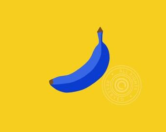 Art Print Blue Banana