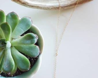 Labradorite Lariat Necklace, Y Necklace, Labradorite, Choker Necklace, Layering Necklace, Dainty Gold Necklace, Minimalist, Boho, Gemstone
