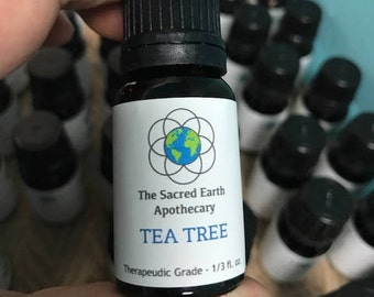 Tea Tree Melaleuca Certified Organic Essential Oil Pure Therapeutic Grade - 10 ml