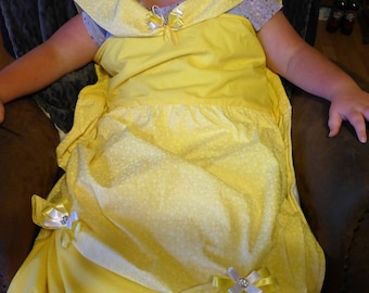 Princess Dress Blanket Pattern:  Quilted Sewn Belle Inspired dress blanket
