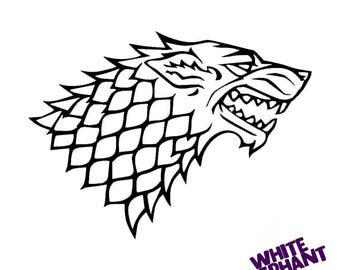 Game Of Thrones House Stark Vinyl Sticker Decal