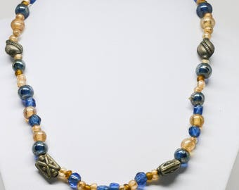 Lovely soft colored beaded necklace
