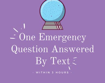 Emergency Same Day Text Message Psychic Reading - One Question - Under 3 Hours - Honest / Fast Answers - (PDF)