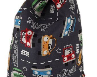 Bag pouch Tote, range pajamas, blanket... Happy Cars