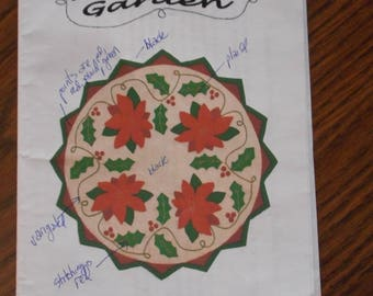 Poinsettia and Holly Table Topper- Quilt Pattern by Heartfelt Garden