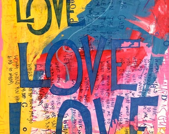 Love Love Love Love Greeting Card