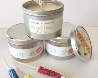 6oz -Happy Hour-Hand-Poured Soy Candle