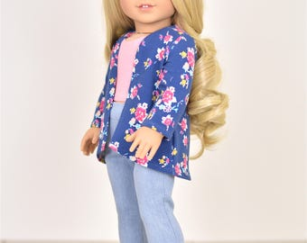 High Low Cardigan 18 inch doll clothes