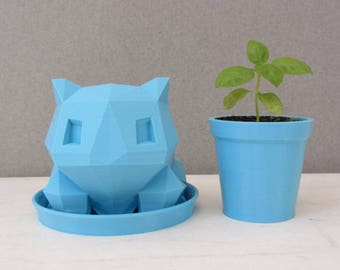 3D Printed Bulbasaur Planter / Cute Planter / Cactus Planter / Pokemon Planter / Small Succulent Planter / Watering can / Gift for him