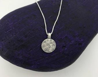 Silver Pendant with Geometric Design