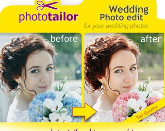 Wedding Photo Edit, Photoshop editing Service for your wedding or engagement photos, for Portraits or full body shots, for bride or groom !