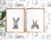 Bunny butt, Rabbit print, Easter decor, PRINTABLE wall art, Nursery art, Woodland animals, Nursery art, Baby animal prints, Nursery animals