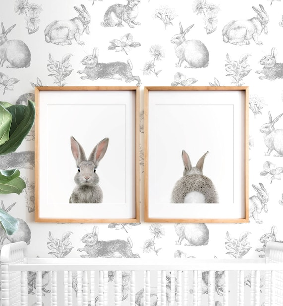 Bunny Butt Rabbit Print Easter Decor PRINTABLE Wall Art
