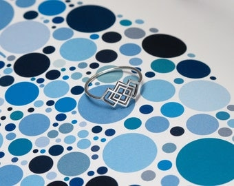 Mini Static Lattice Ring/ Sterling Silver Lattice Ring