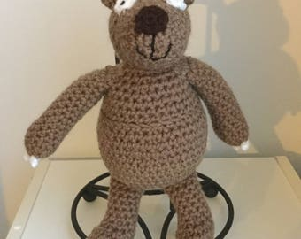Made to Order: Crochet Amigurumi Stuffed Brown Bear Plush