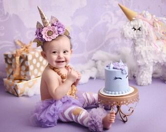 Whimsical Unicorn Crown, Birthday Crown, PhotoShoot Props