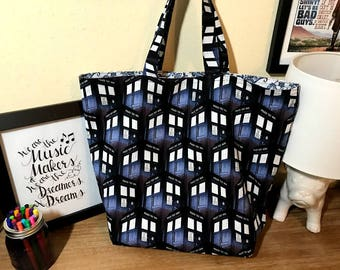 Doctor Who Police Box Reversible Tote/Shopping Bag