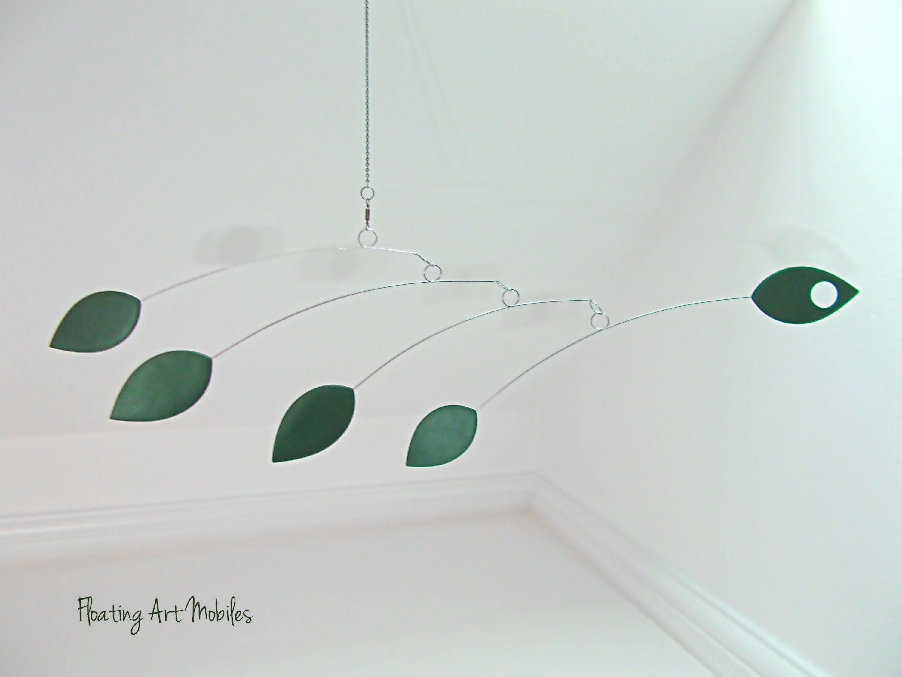 hanging mobile jewel green leaf modern mobile leaf mobile  - hanging mobile jewel green leaf modern mobile leaf mobile modern homeleaf art botanical art crib mobile jungle theme nursery decor