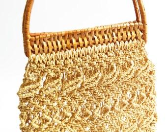 1960's Straw Bag