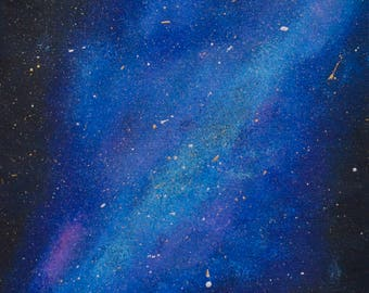 Galaxy in Space Acrylic Painting 8 x 10