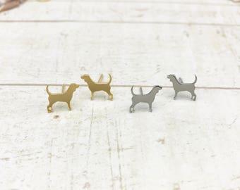 BEAGLE EARRINGS !! BeagleLovers, Gold Earrings, dog lovers, cute earrings, Stud Earrings, animal lovers, stainless steel