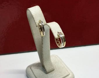 Earrings hoops gold 333 yellow gold white gold KristallsteinchenVintage OR123