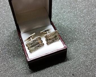 Cufflinks silver 835 Cufflink floral MS195
