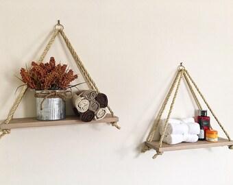 Grand Triangle Hanging Shelf Twins