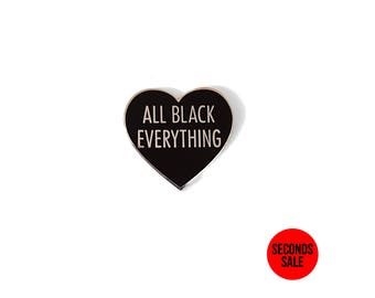 All Black Everything [Silver Hard Enamel Pin]