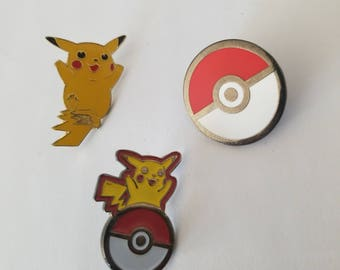 Pikachu Pokeball Set of 3 pins
