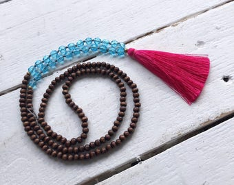Tassel necklace/ bohemian jewelry/ long tassel necklace/ bohemian necklace/beaded necklace/ hippie necklace/ gift for her/ necklace