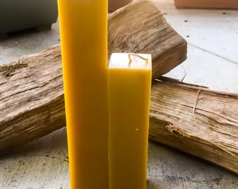 Organic beeswax candle-square Beeswax Pillar Candle -100% Pure Beeswax Square Pillar candles-unique beeswax pillars-pure beeswax pillar