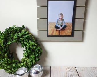 Picture Frame - Farmhouse Decor - Wood Frame - 5x7 Picture Frame - Rustic Home Decor - Fence Decor - Fall Decor - Frame - Housewarming Gift