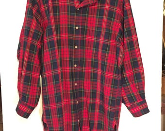 PENDLETON Vintage 100% Worsted Wool Plaid Shirt sz Medium NM
