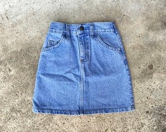 Vintage Lee Stone Washed Denim Skirt | Toddler Denim Skirt | 6