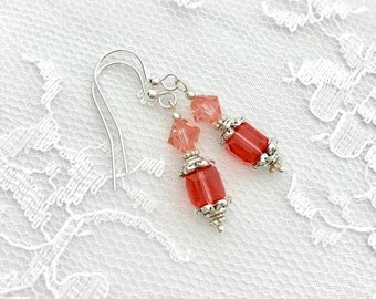 Crystal Earrings, Bridesmaids Earrings, Bridesmaid Gift, Bridal Party Gift, Birthstone Earrings