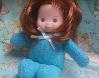 """Fisher Price FORGET ME NOT Doll, 6.5"""",1982, Auburn hair,Soft body doll, Vintage"""