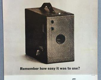 1961 Polaroid 10-Second Auomatic Camera Print Ad - Vintage Camera Ad