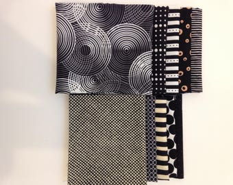 Black Scrap Fabric collection