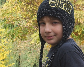 Star Wars Inspired kids hat, Kids Star Wars hat black galaxy hat, Warm Hats, Gifts for Him