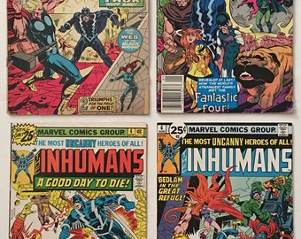 The Inhumans #s 4, 6, Special 1, and Amazing Adventures 8 Lot of 4 Marvel Comic Books - New TV Show